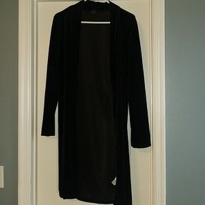 Forever 21 long ribbed black sweater/jacket size L